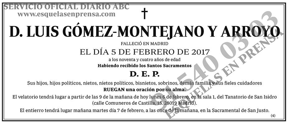 Luis Gómez-Montejano y Arroyo